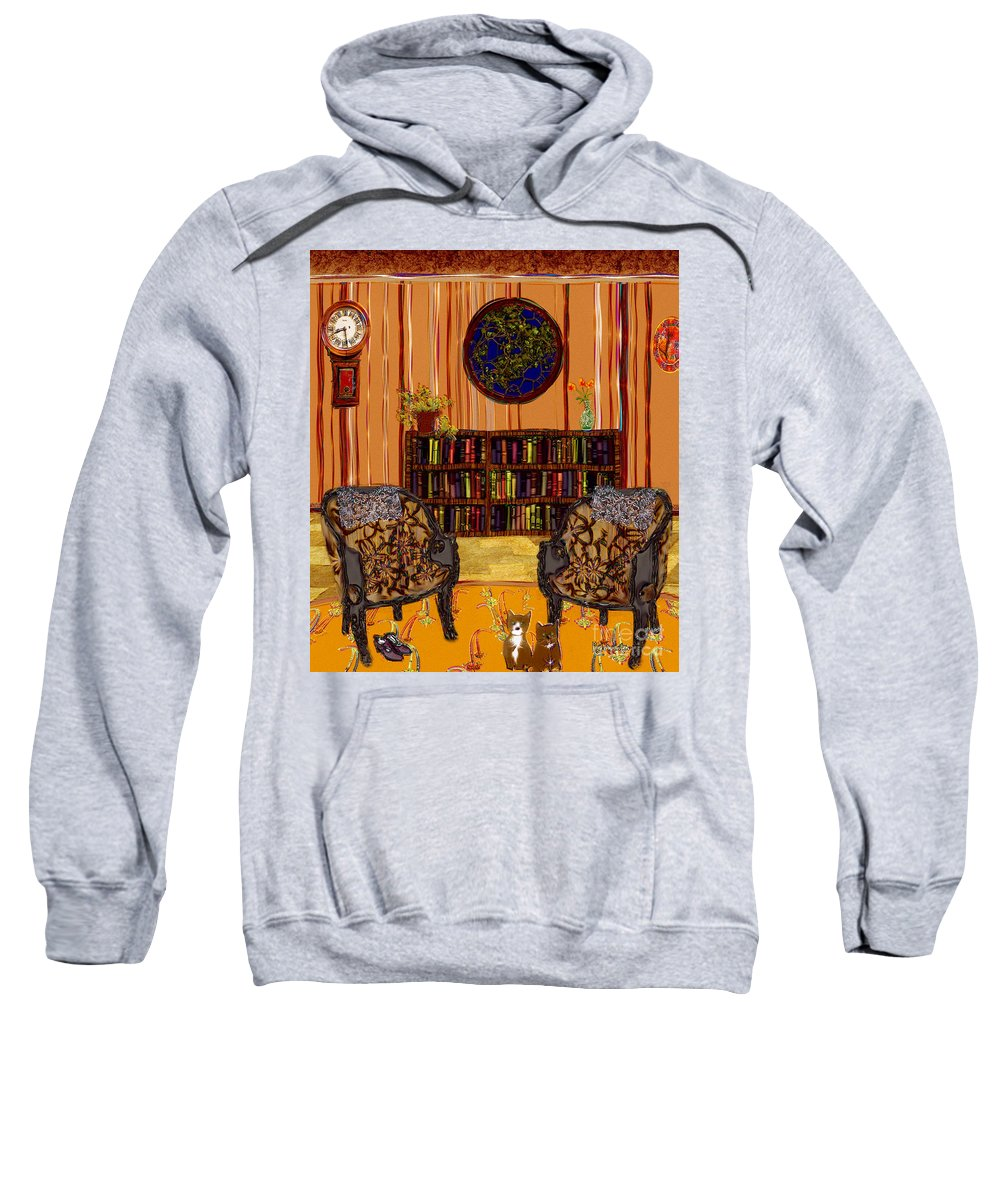 Folk Art Sweatshirt featuring the painting A Victorian Horror by RC deWinter