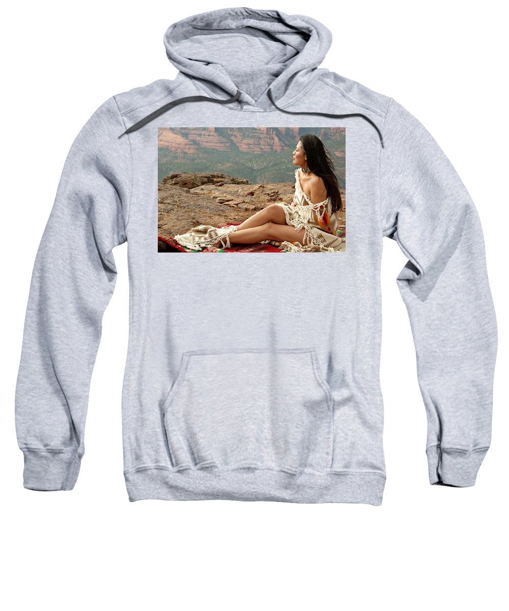 Native American Sweatshirt featuring the photograph A View by Scott Sawyer