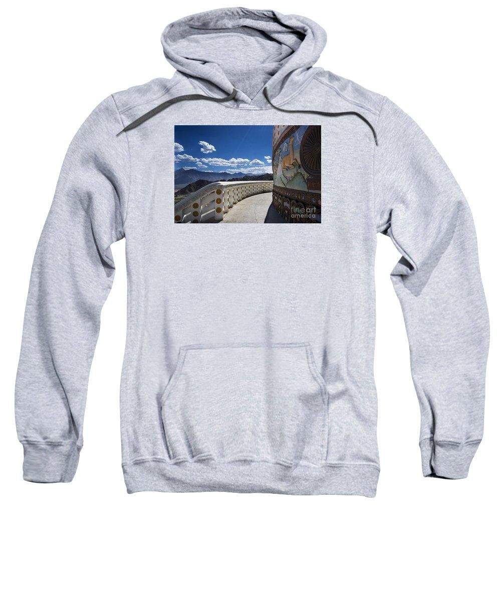 Festblues. Architecture Sweatshirt featuring the photograph Spiritual Journey.. by Nina Stavlund