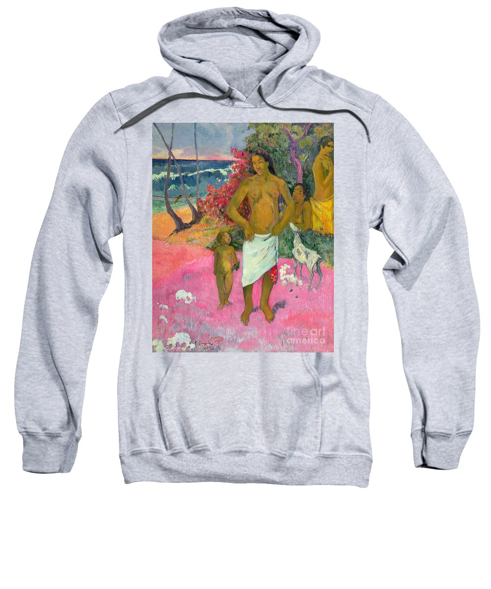Paul Gauguin Sweatshirt featuring the painting A Walk By The Sea by Paul Gauguin