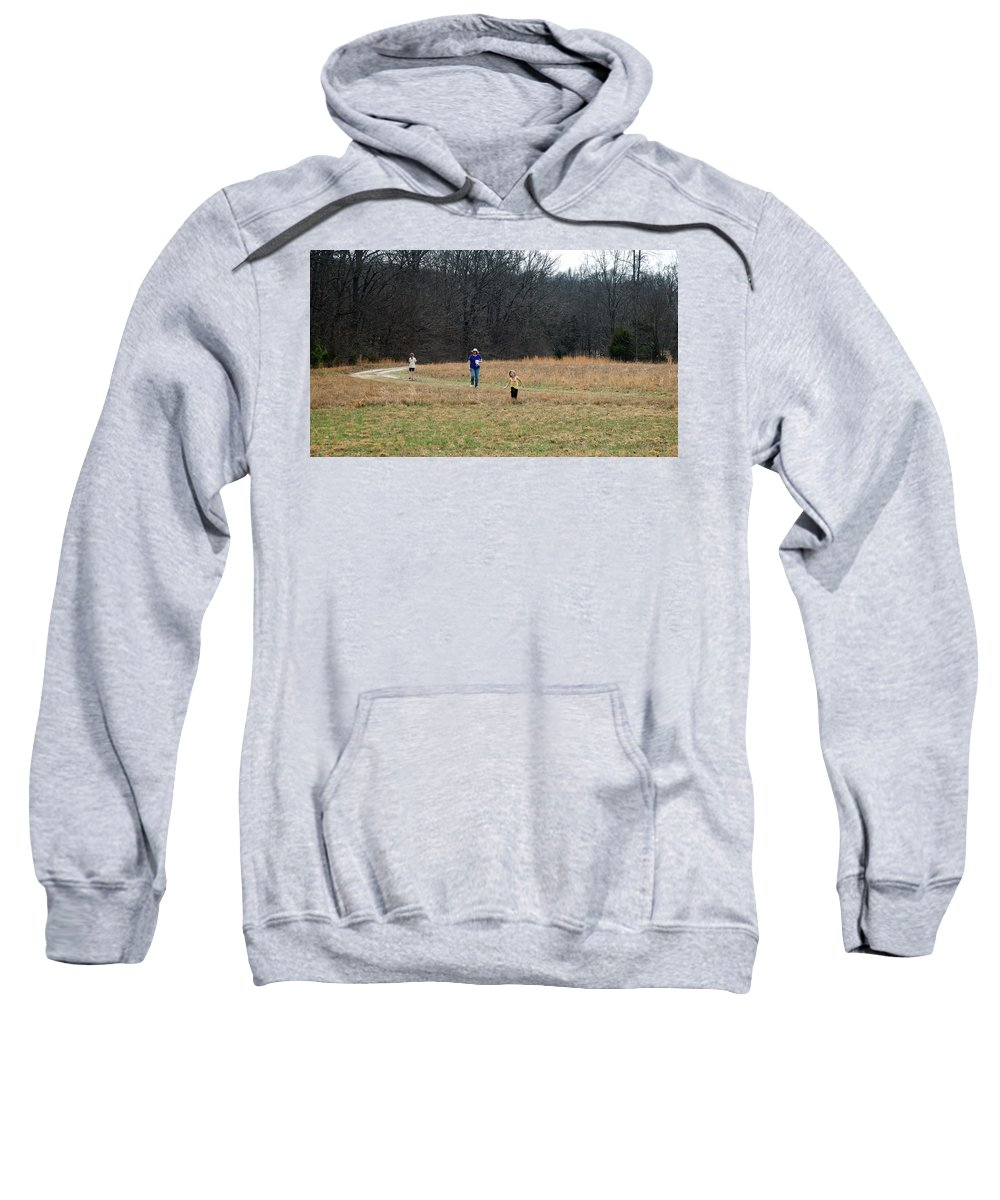 Field Sweatshirt featuring the photograph A Walk In A Field by George Taylor