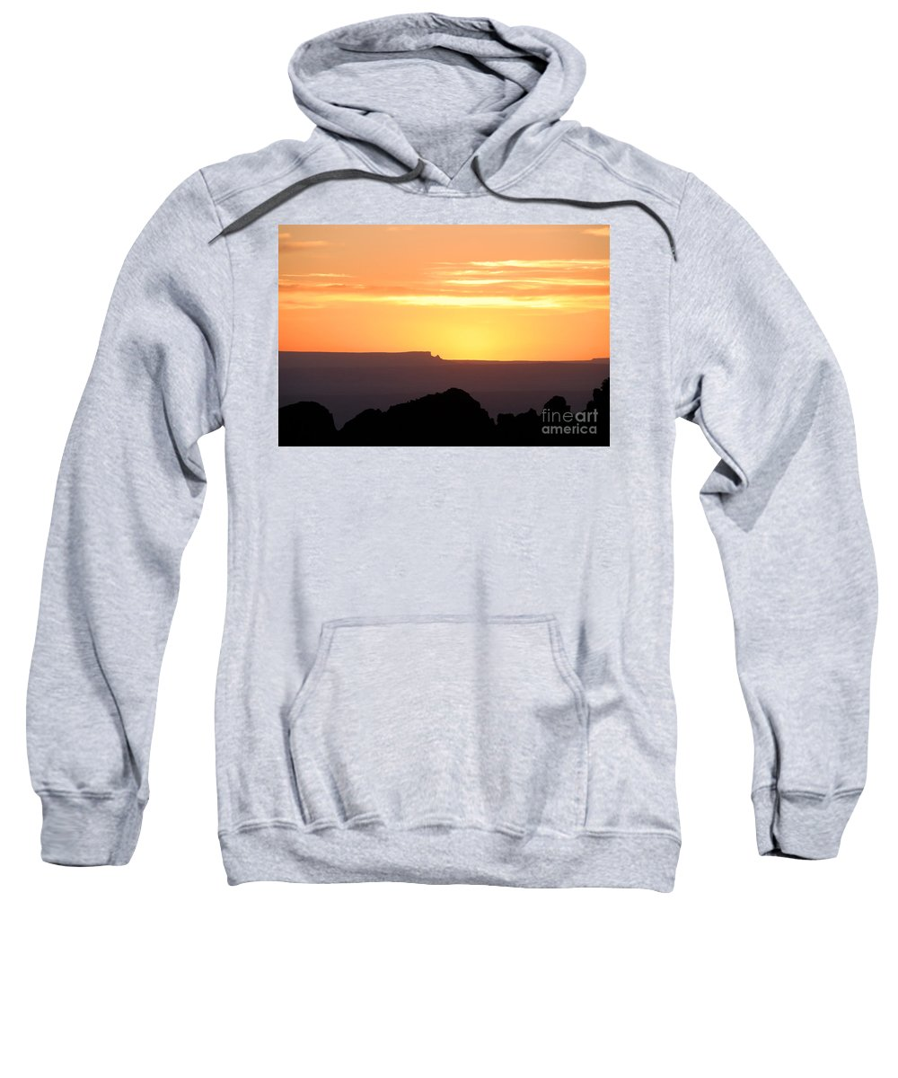 Western Us Sweatshirt featuring the photograph A Western Sunset by David Lee Thompson