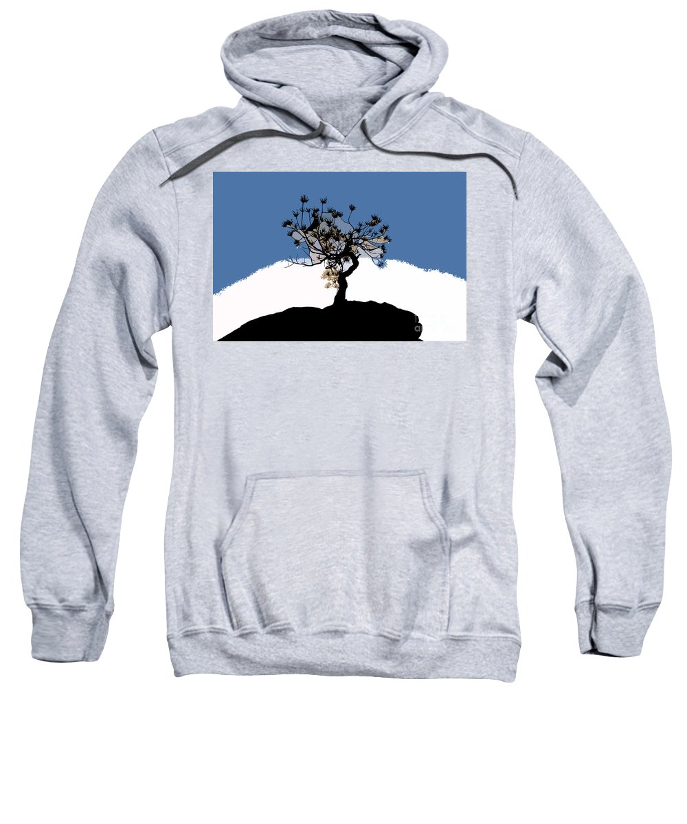 Tree Sweatshirt featuring the painting A Will To Live by David Lee Thompson
