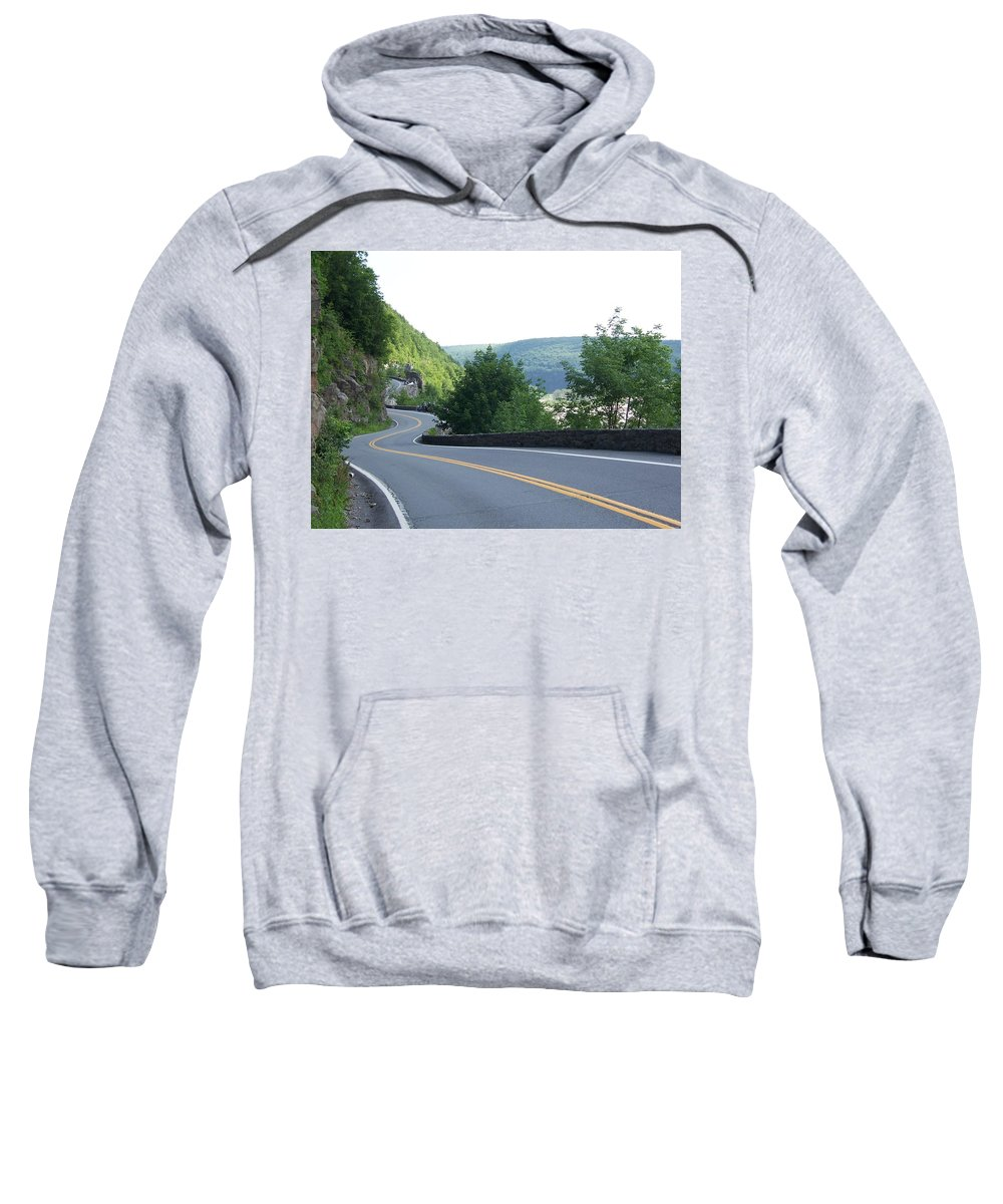 Road Sweatshirt featuring the photograph A Winding Road by Laurie Paci