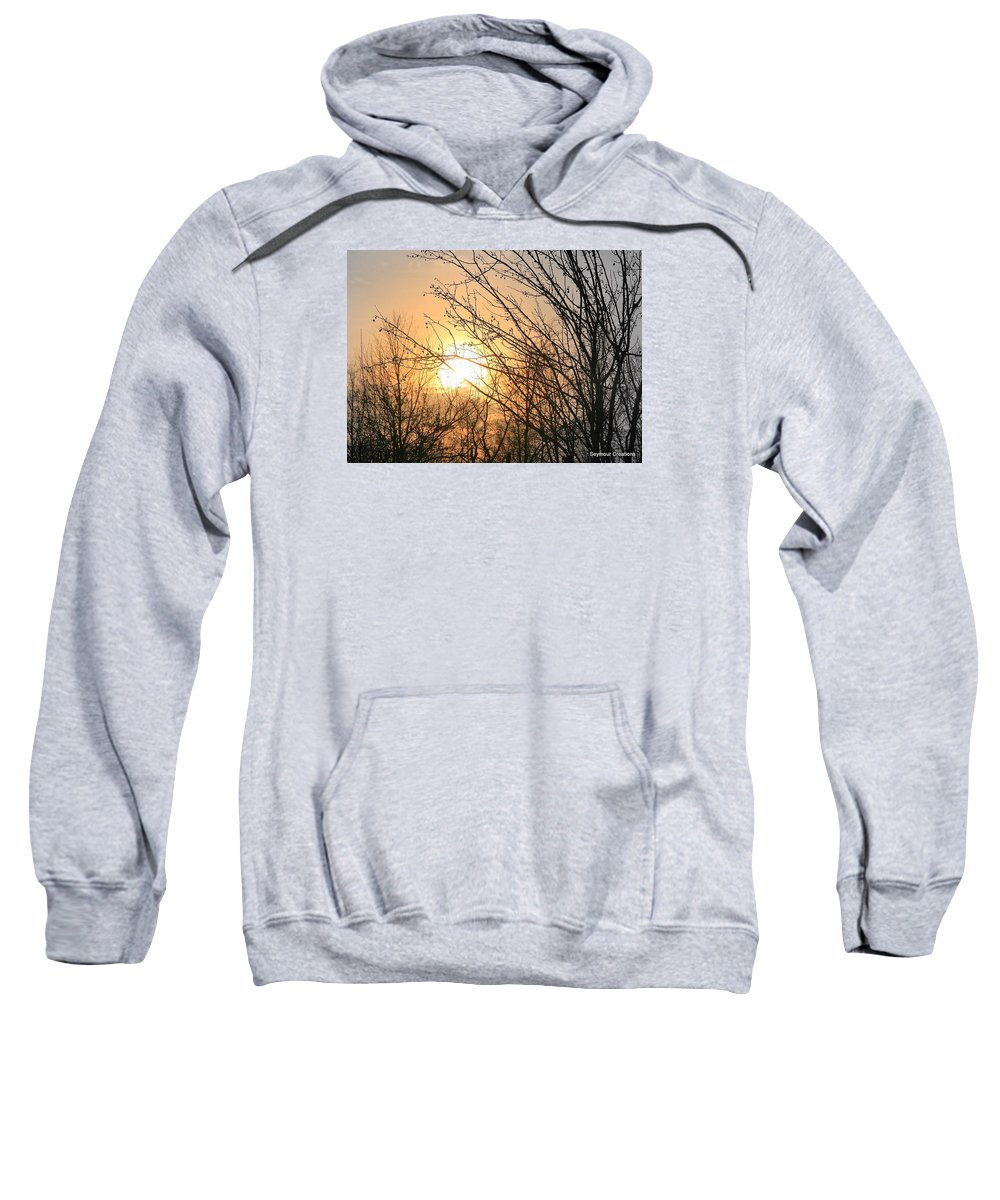 Sun Sweatshirt featuring the photograph A Winter's Day After Glow by J R Seymour