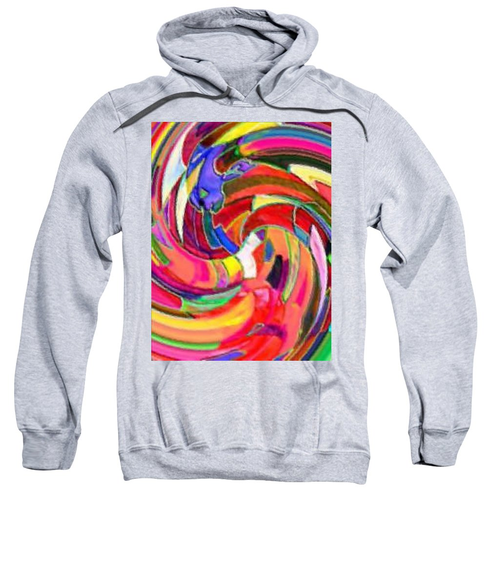 Digital Image Sweatshirt featuring the digital art AB by Andrew Johnson