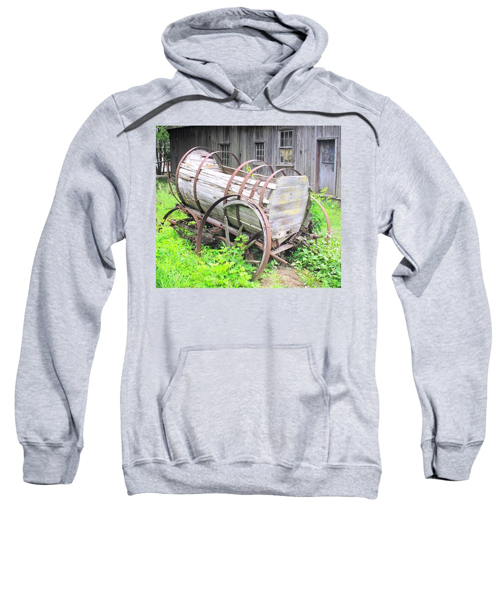 Wagon Sweatshirt featuring the photograph Abandoned by Ian MacDonald