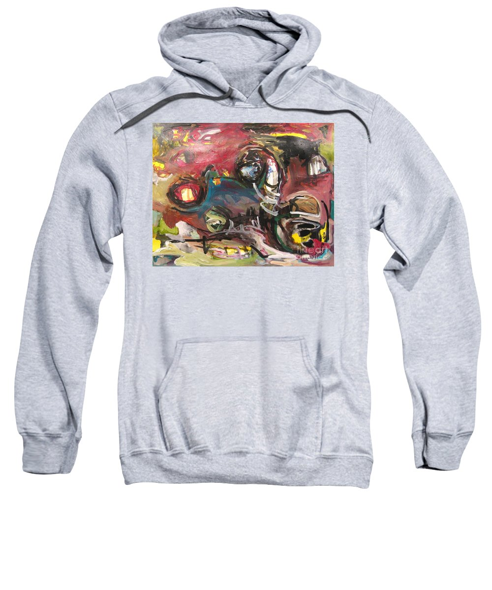 Abstract Paintings Sweatshirt featuring the painting Abandoned Ideas by Seon-Jeong Kim