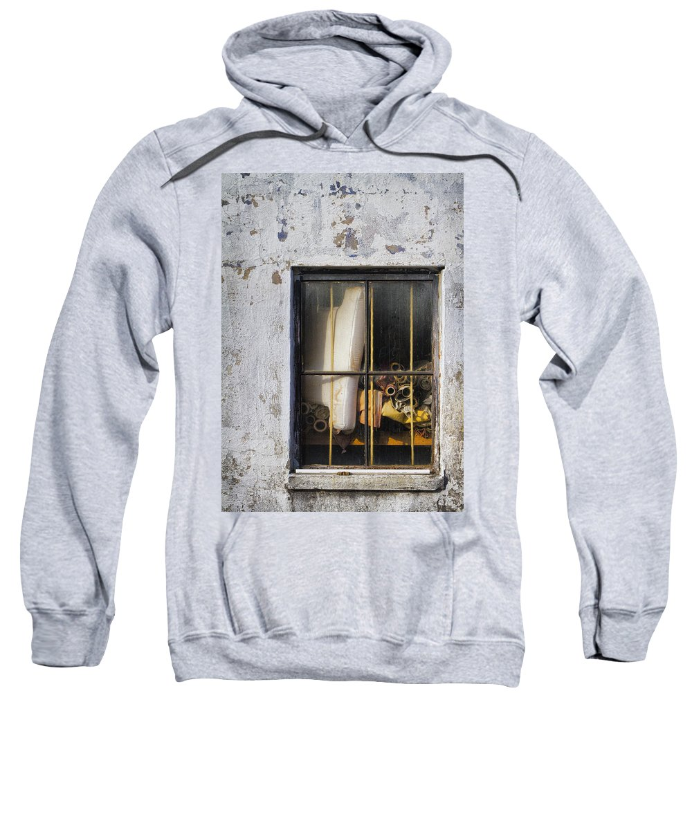 Fabric Sweatshirt featuring the photograph Abandoned Remnants Ala Grunge by Kathy Clark