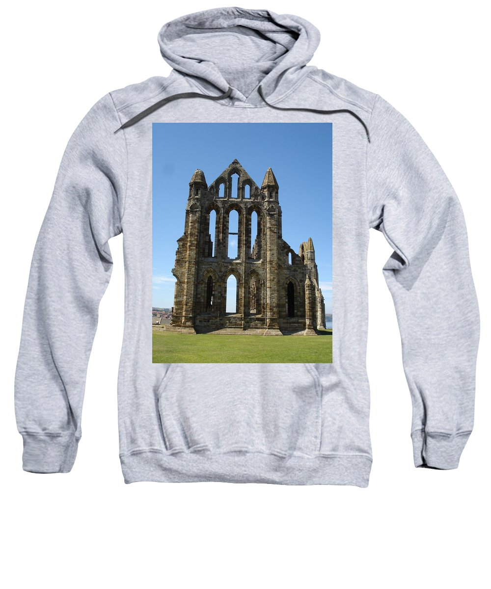 Abby Sweatshirt featuring the photograph Abbey At Whitby by Susan Baker