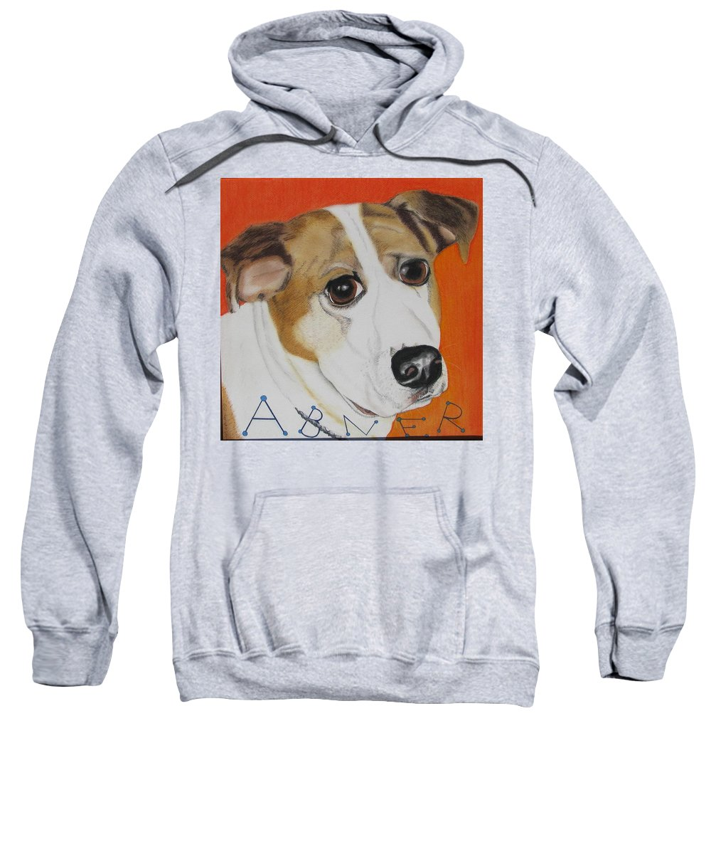 Dog Portrait Sweatshirt featuring the painting Abner by Michelle Hayden-Marsan