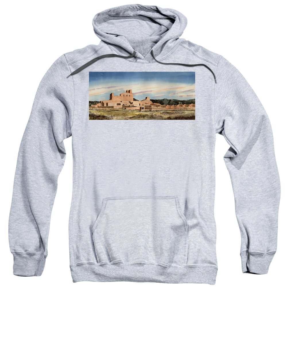 Mission Sweatshirt featuring the painting Abo Mission by Sam Sidders