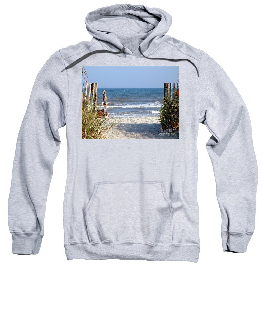Beach Sweatshirt featuring the photograph About Time by Lj Lambert