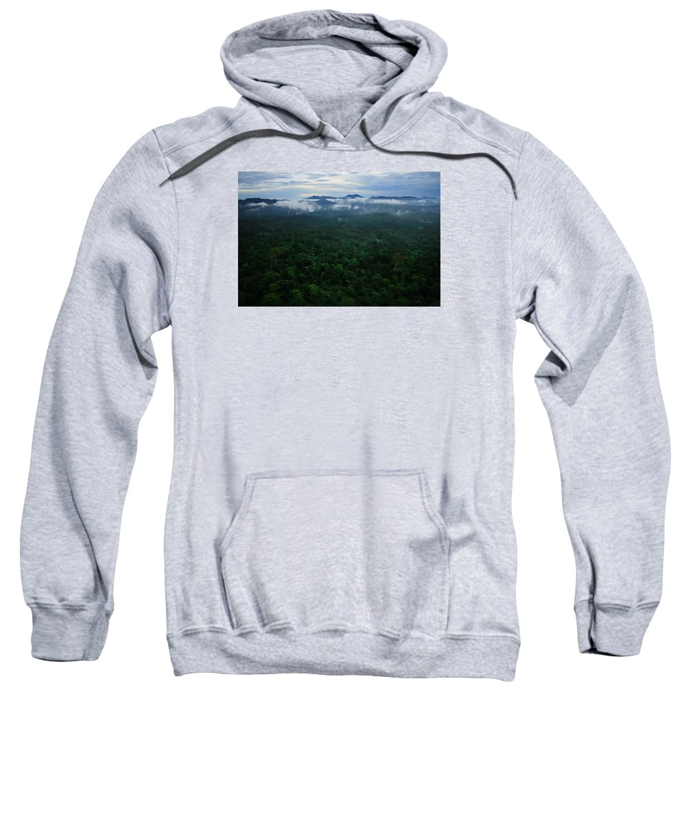 Borneo Sweatshirt featuring the photograph Above The Trees by Andrew Parker
