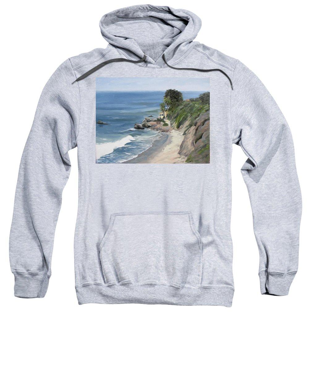Seascape Sweatshirt featuring the painting Above Zuma by Jay Johnson