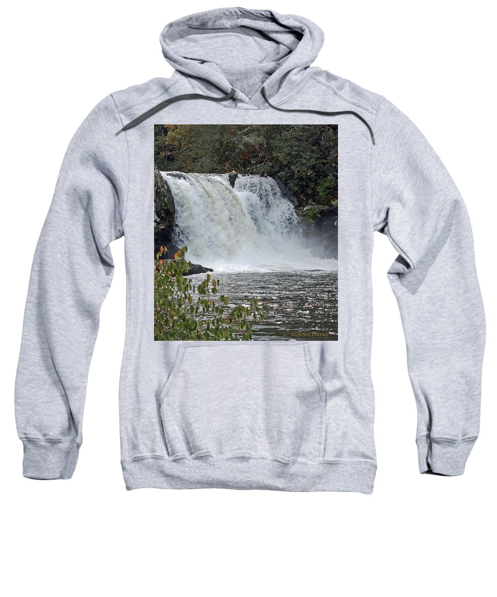 Water Falls Sweatshirt featuring the digital art Abrams Falls Cades Cove Tn by DigiArt Diaries by Vicky B Fuller