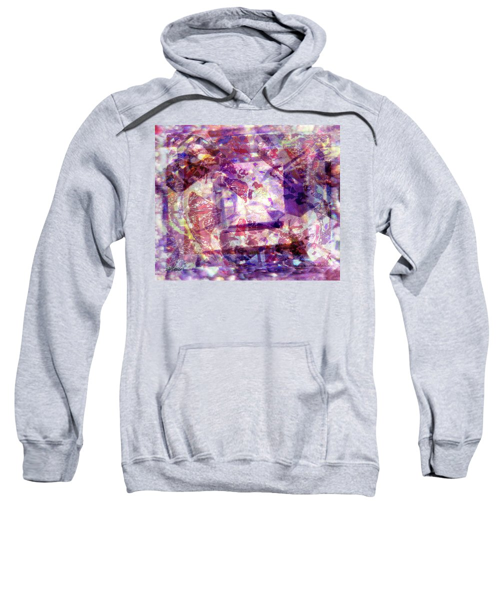 Abstract Sweatshirt featuring the digital art Abstacked by Seth Weaver