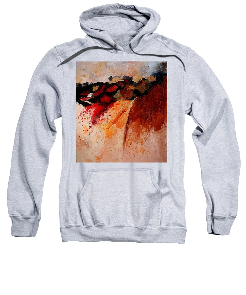Abstract Sweatshirt featuring the painting Abstract 010607 by Pol Ledent