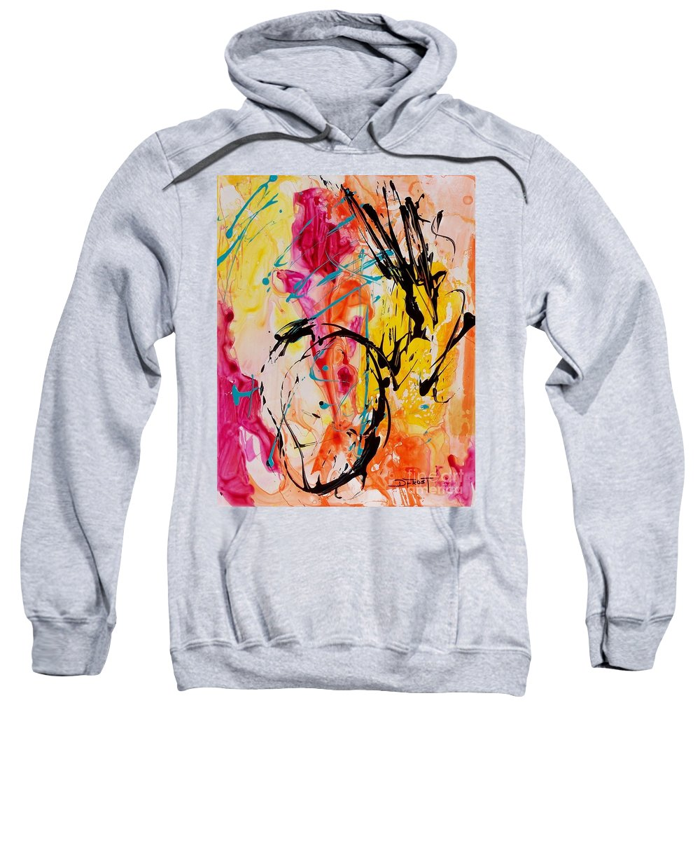 Abstract Sweatshirt featuring the painting Abstract 058 by Donna Frost
