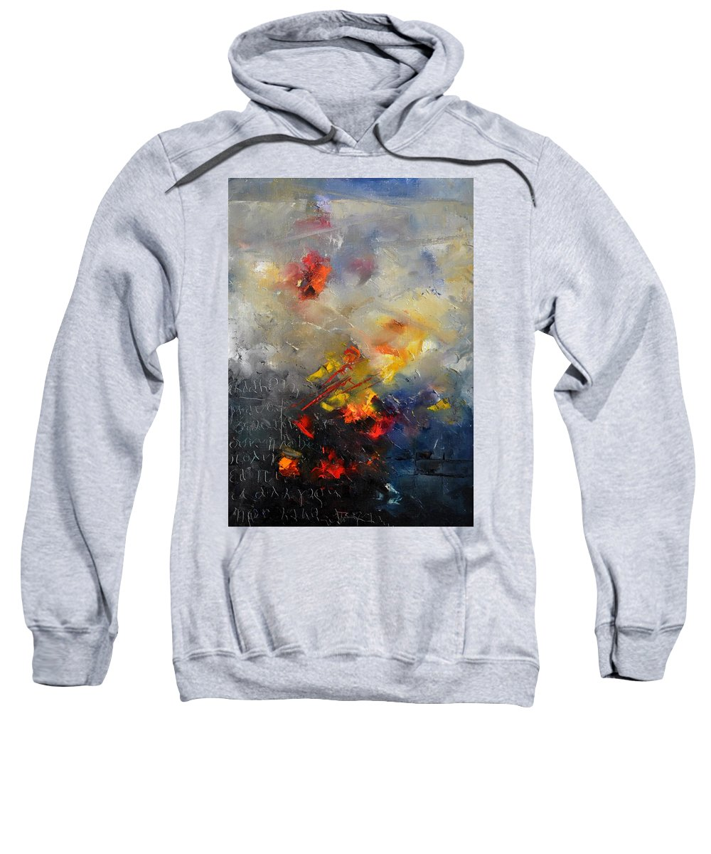 Abstract Sweatshirt featuring the painting Abstract 0805 by Pol Ledent