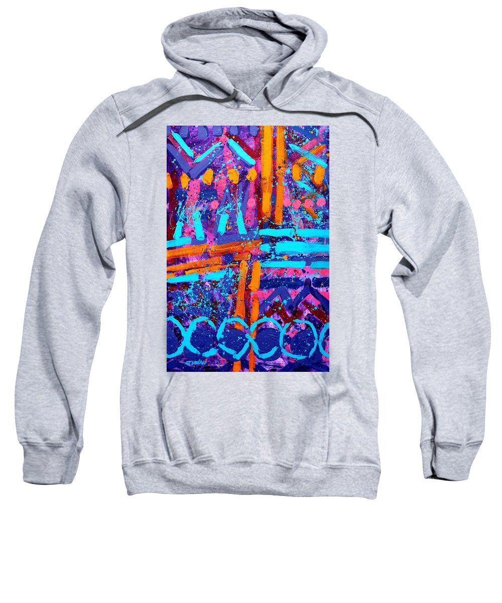 Abstract Sweatshirt featuring the painting Abstract 10316  I by John Nolan