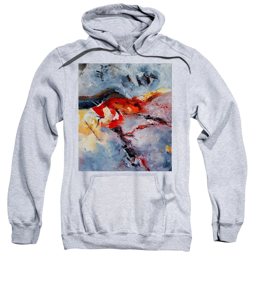 Abstract Sweatshirt featuring the painting Abstract 1106 by Pol Ledent
