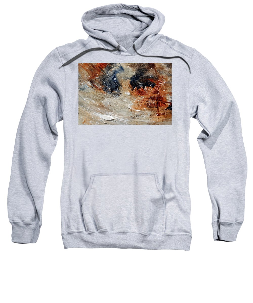 Abstract Sweatshirt featuring the painting Abstract 1236 by Pol Ledent