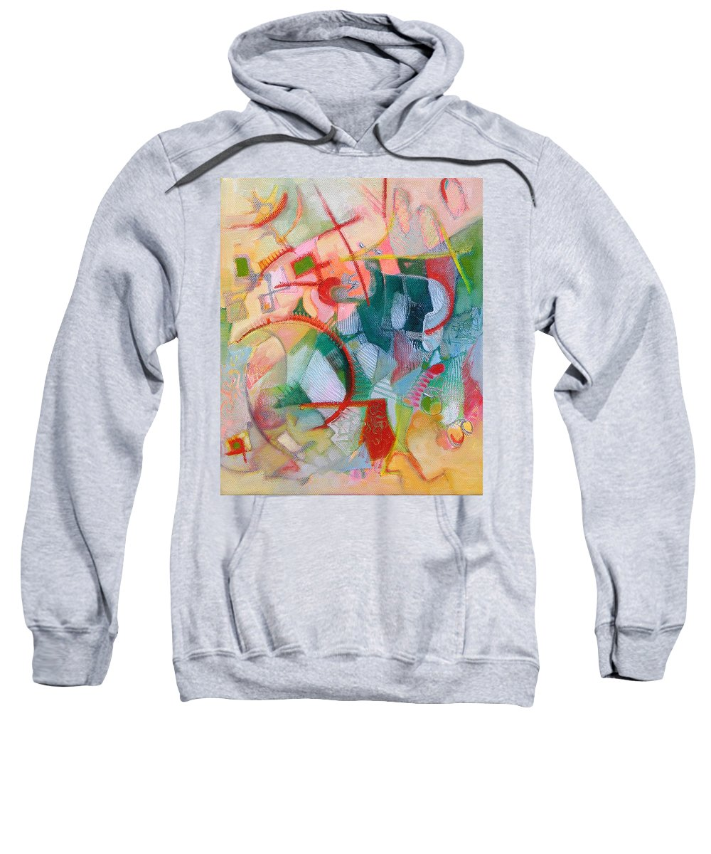 Abstract Artwork Sweatshirt featuring the painting Abstract 3 by Susanne Clark
