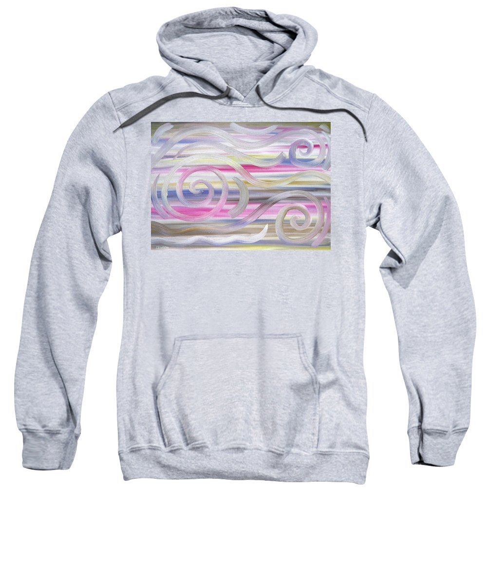 Abstract Sweatshirt featuring the painting Abstract 436 by Patrick J Murphy