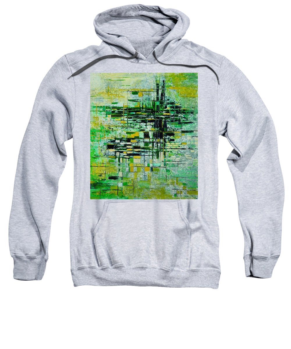Abstract Sweatshirt featuring the painting Abstract 5 by Pol Ledent