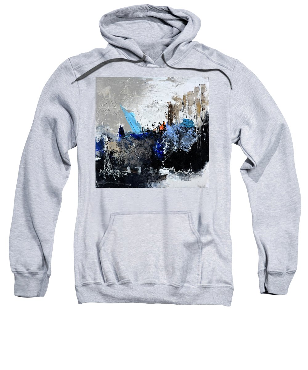 Abstract Sweatshirt featuring the painting Abstract 51703 by Pol Ledent