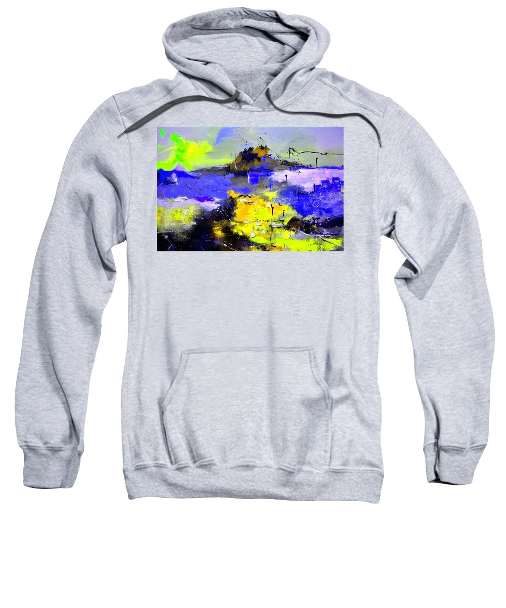 Abstract Sweatshirt featuring the painting Abstract 55442233 by Pol Ledent