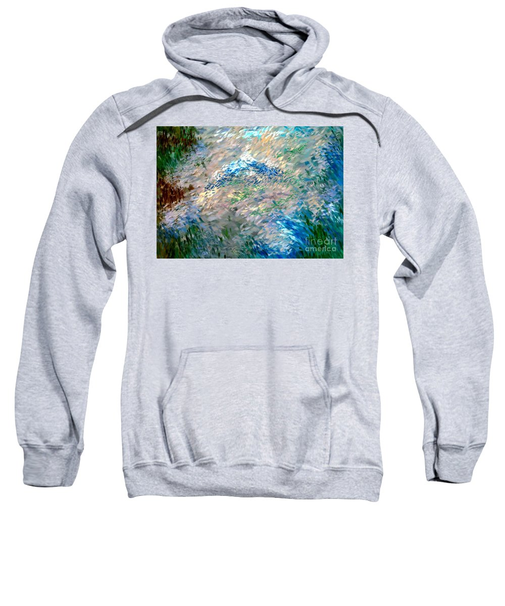 Abstract Sweatshirt featuring the digital art Abstract 6-03-09 A by David Lane