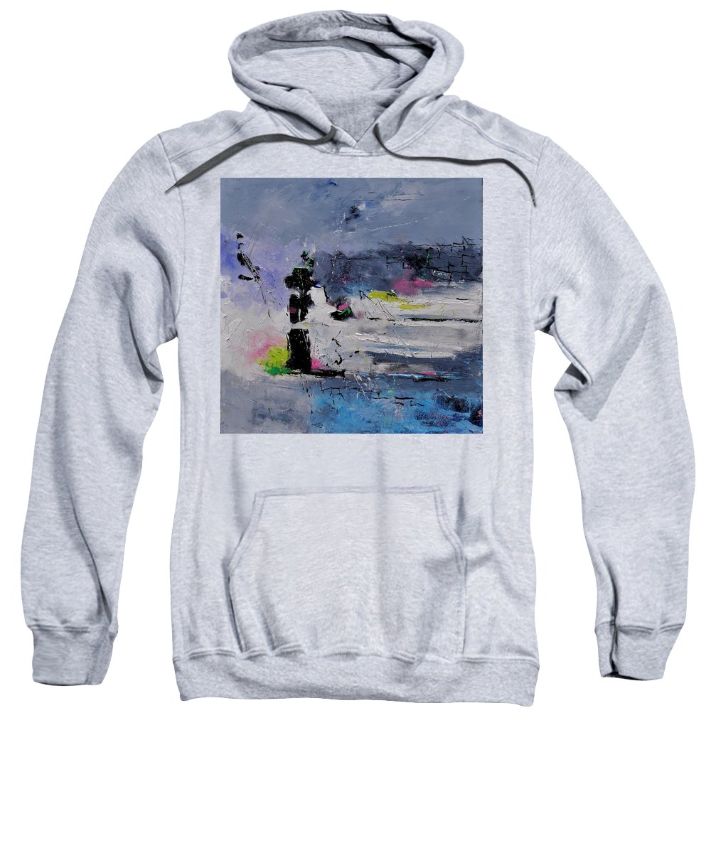 Abstract Sweatshirt featuring the painting Abstract 6611602 by Pol Ledent