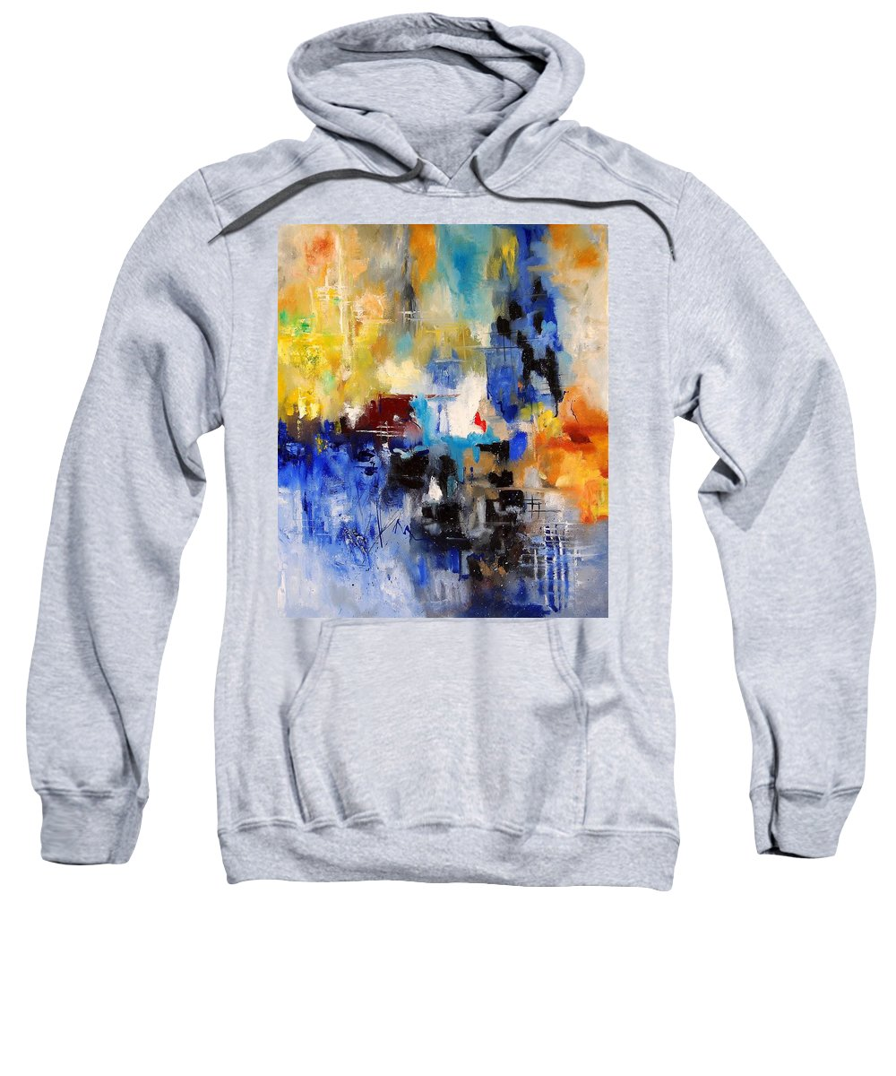 Abstract Sweatshirt featuring the painting Abstract 69070 by Pol Ledent