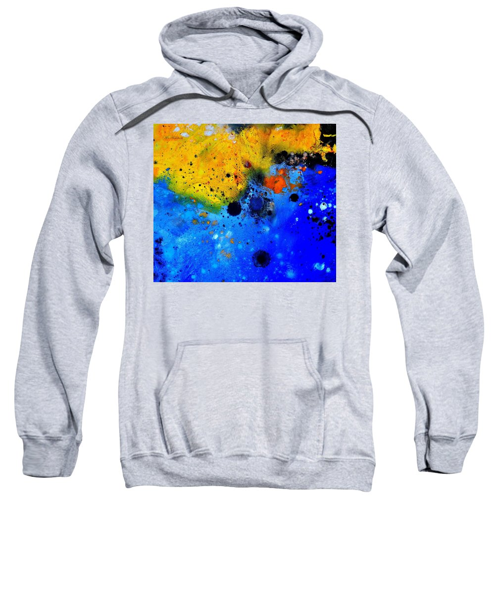 Abstract Sweatshirt featuring the painting Abstract 767b by Pol Ledent