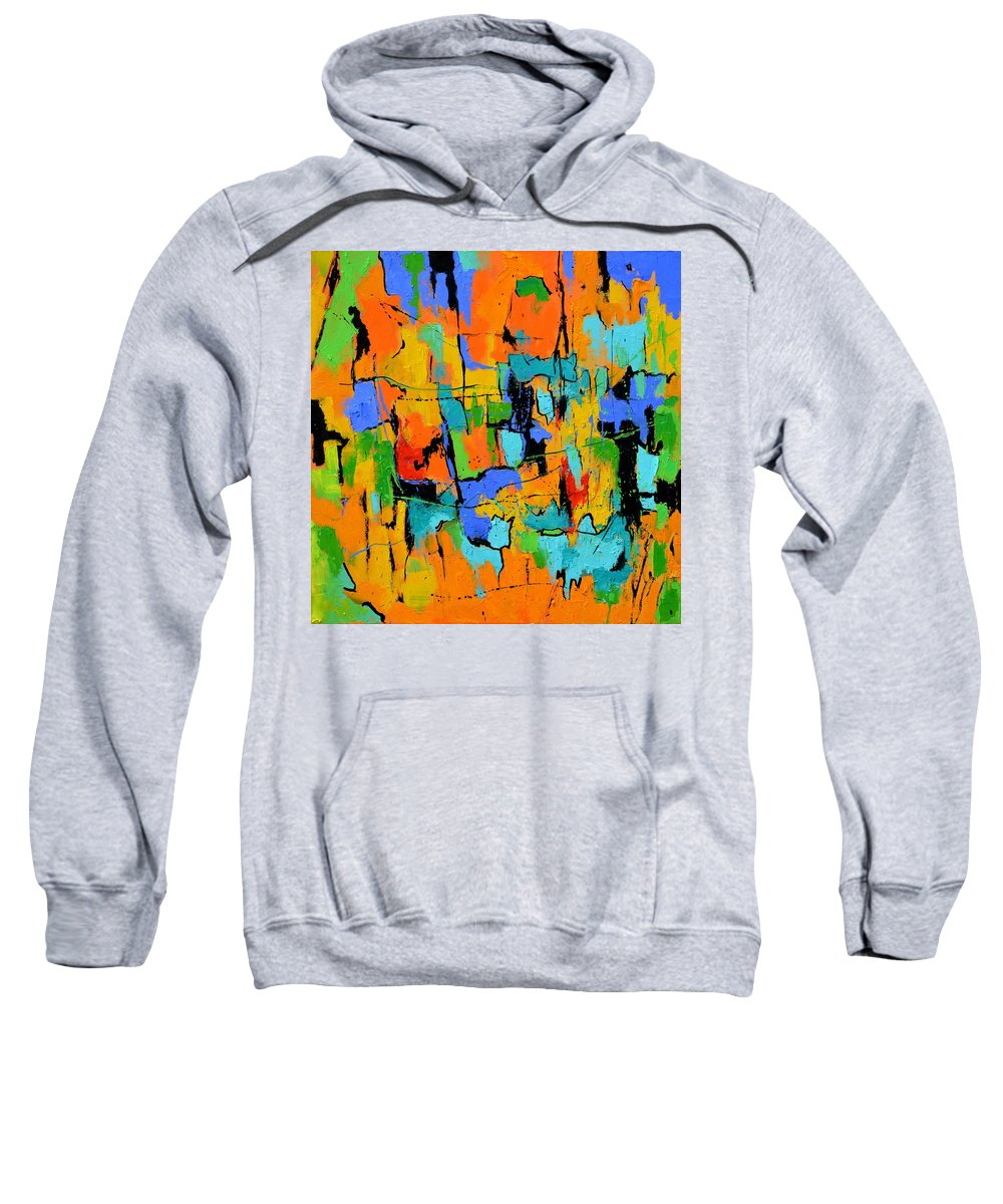 Abstract Sweatshirt featuring the painting Abstract 7761701 by Pol Ledent