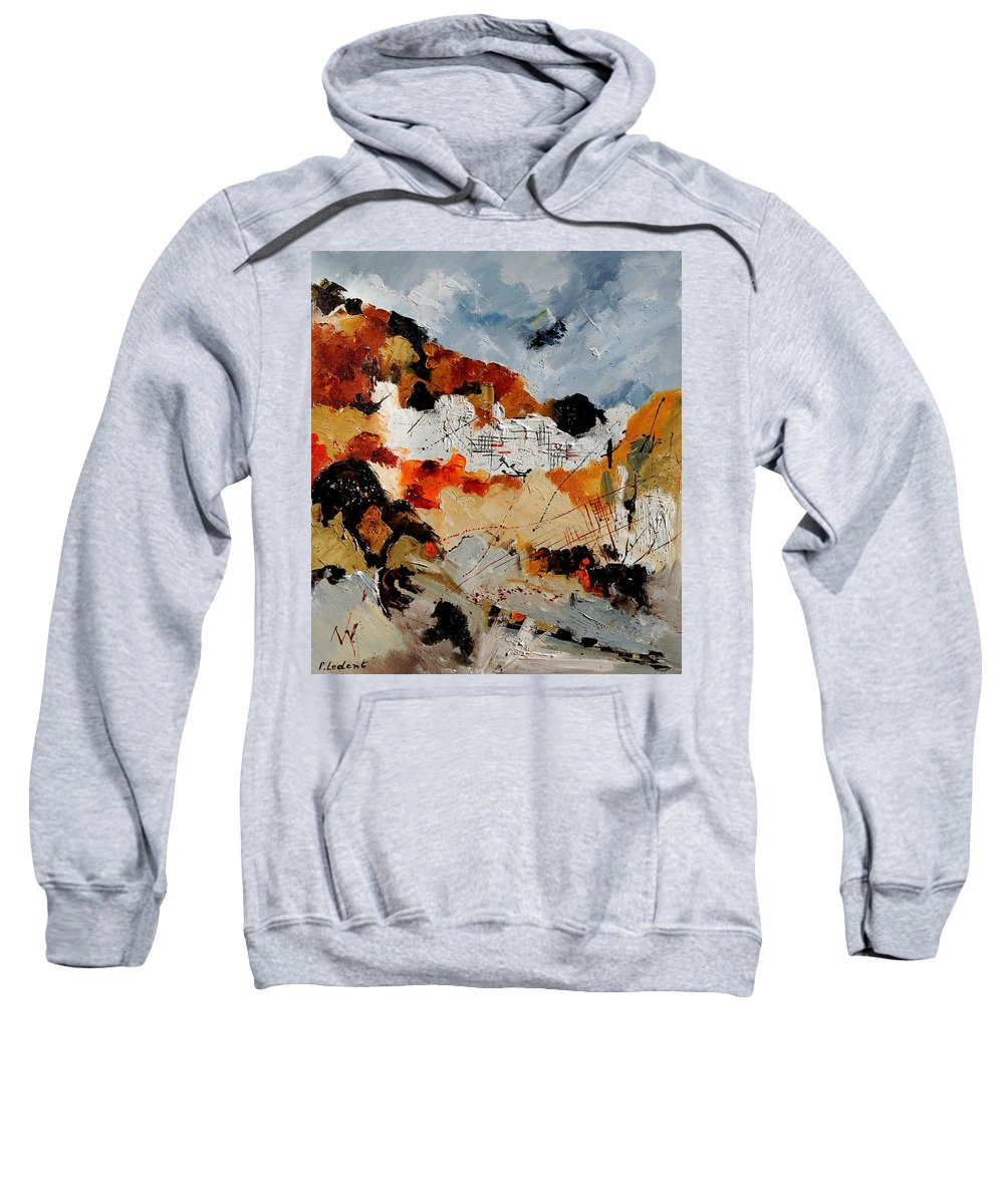 Abstract Sweatshirt featuring the painting Abstract 780708 by Pol Ledent