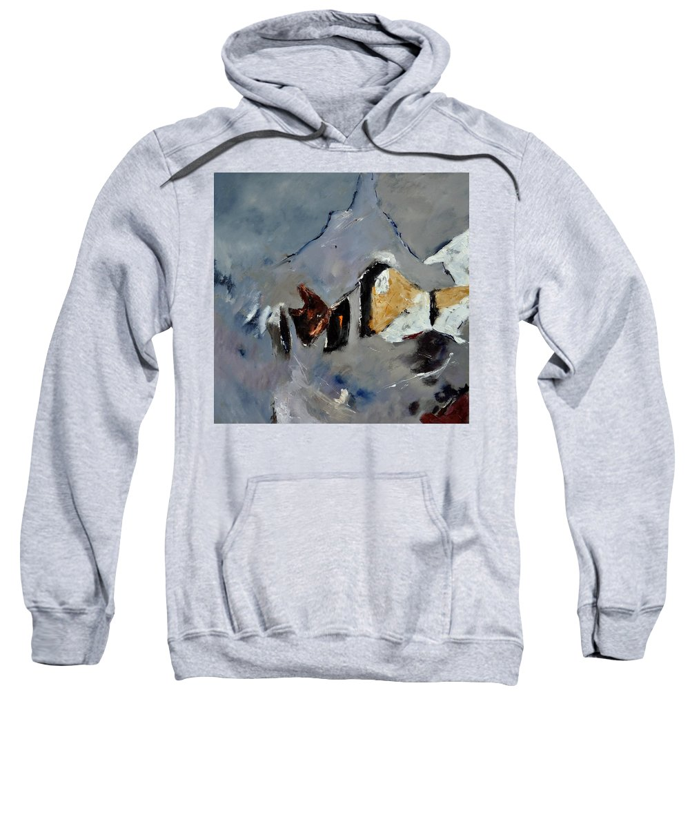 Abstract Sweatshirt featuring the painting Abstract 88112012 by Pol Ledent