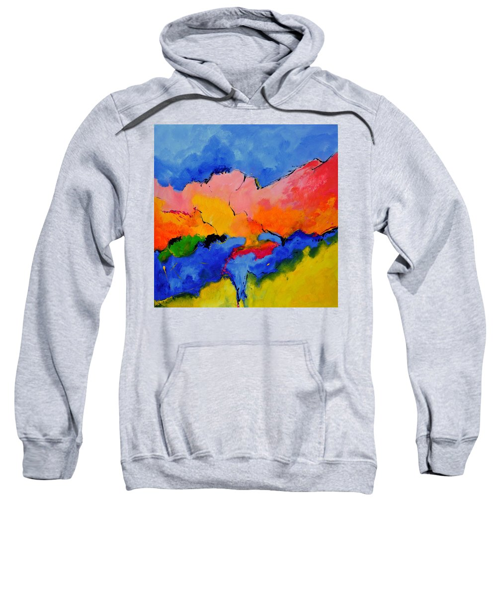 Abstract Sweatshirt featuring the painting Abstract 88112060 by Pol Ledent