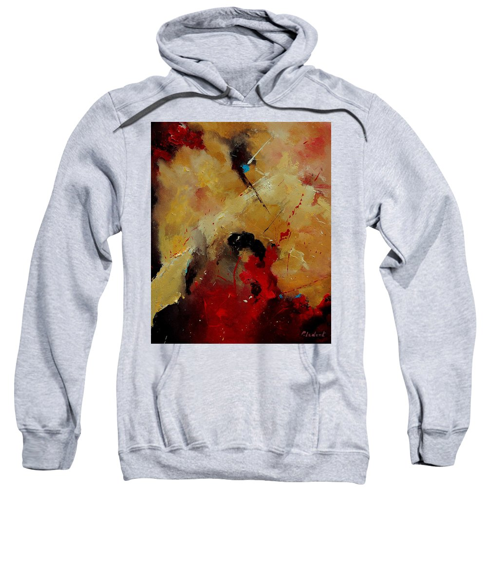 Abstract Sweatshirt featuring the painting Abstract 901156 by Pol Ledent