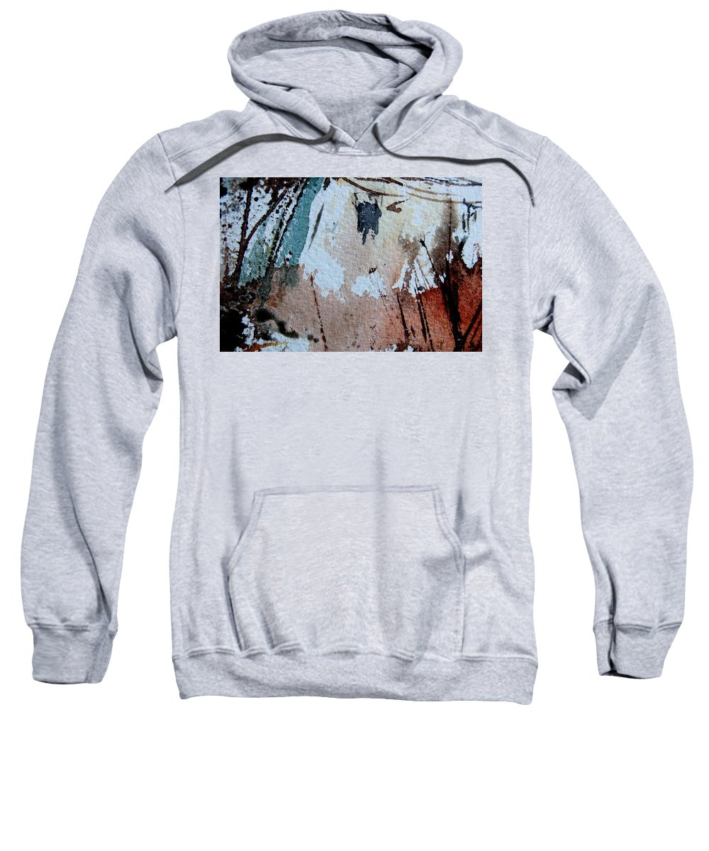 Abstract Sweatshirt featuring the painting Abstract 9036 by Pol Ledent