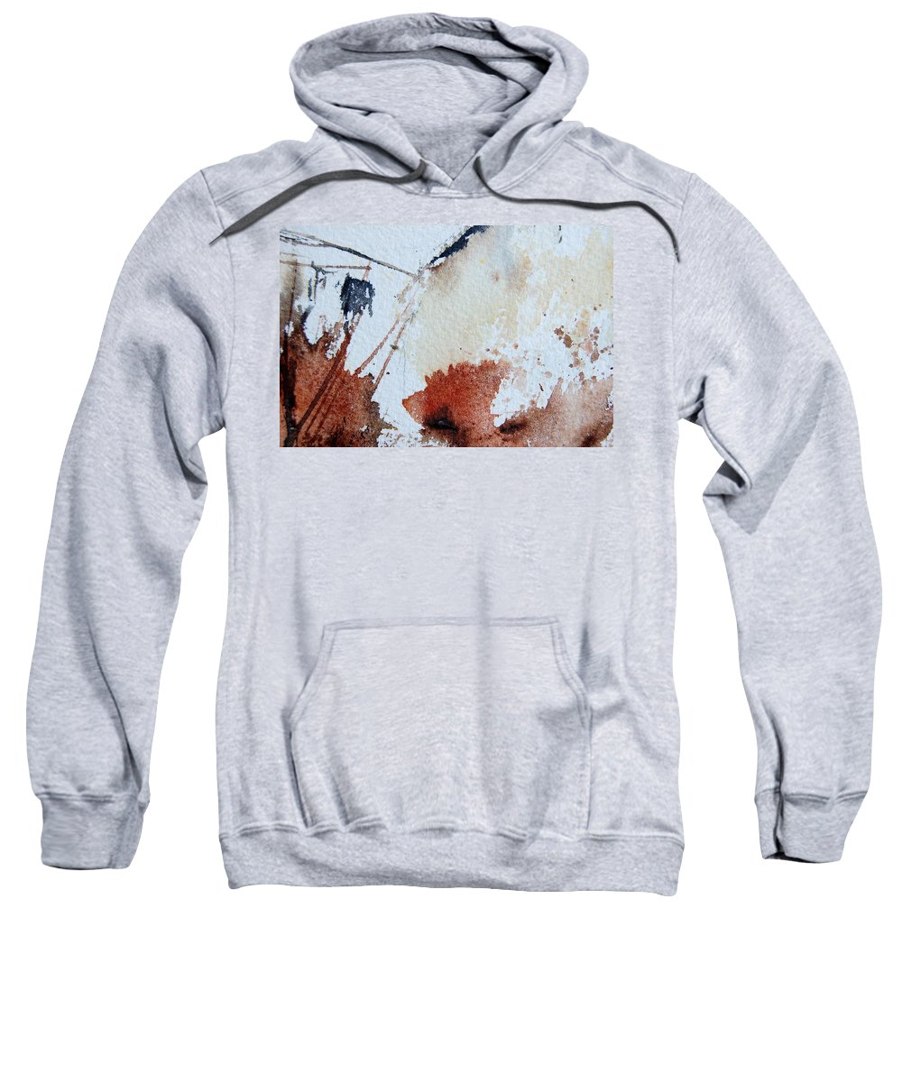 Abstract Sweatshirt featuring the painting Abstract 9037 by Pol Ledent