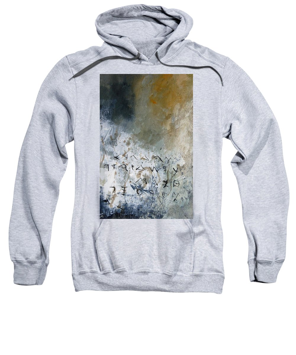 Abstract Sweatshirt featuring the painting Abstract 904023 by Pol Ledent