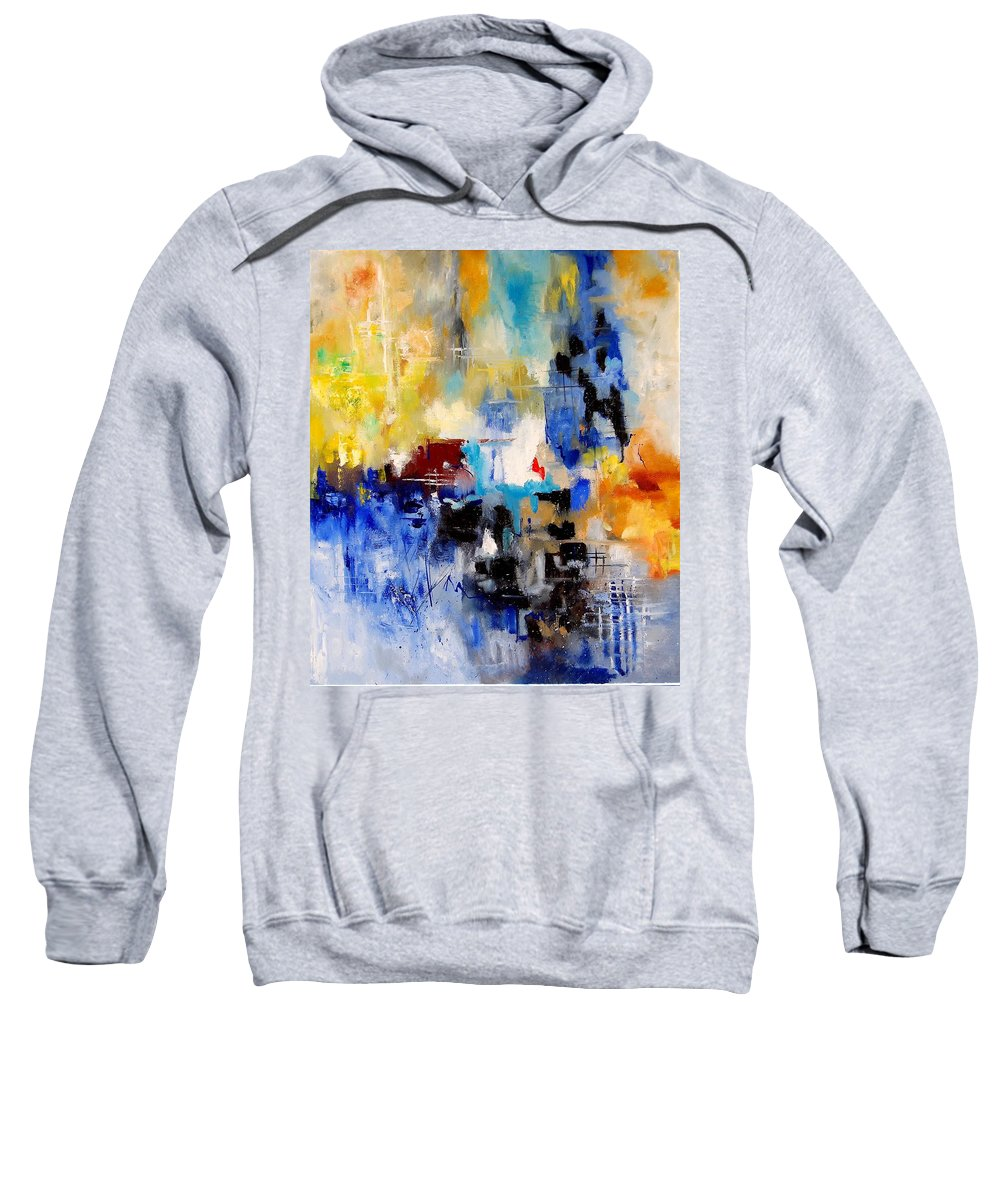 Abstract Sweatshirt featuring the painting Abstract 905003 by Pol Ledent