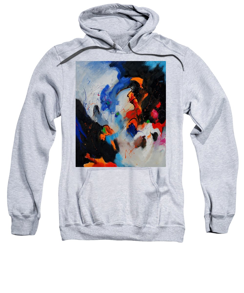 Abstract Sweatshirt featuring the painting Abstract 905060 by Pol Ledent
