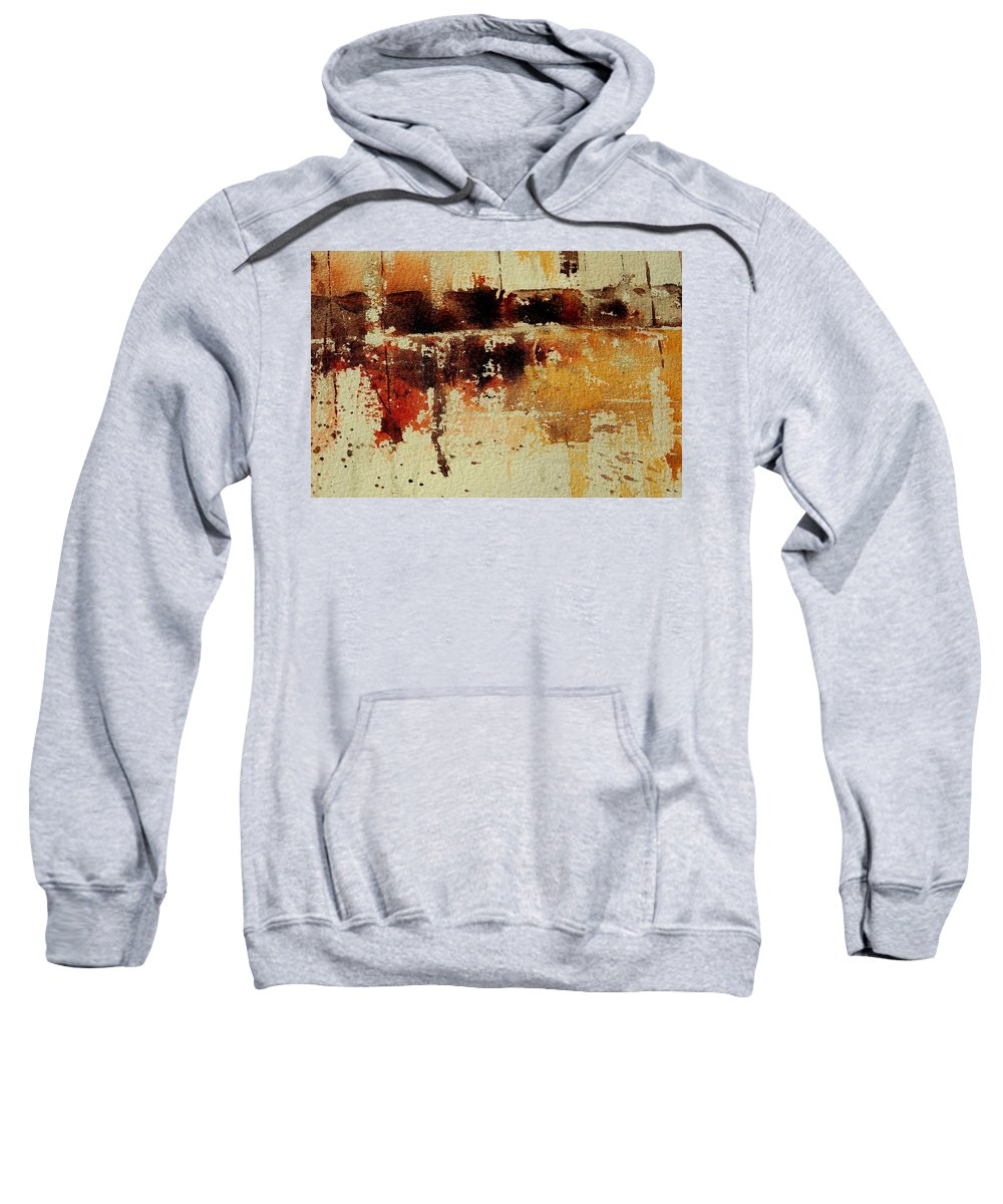 Abstract Sweatshirt featuring the painting Abstract 90801245 by Pol Ledent