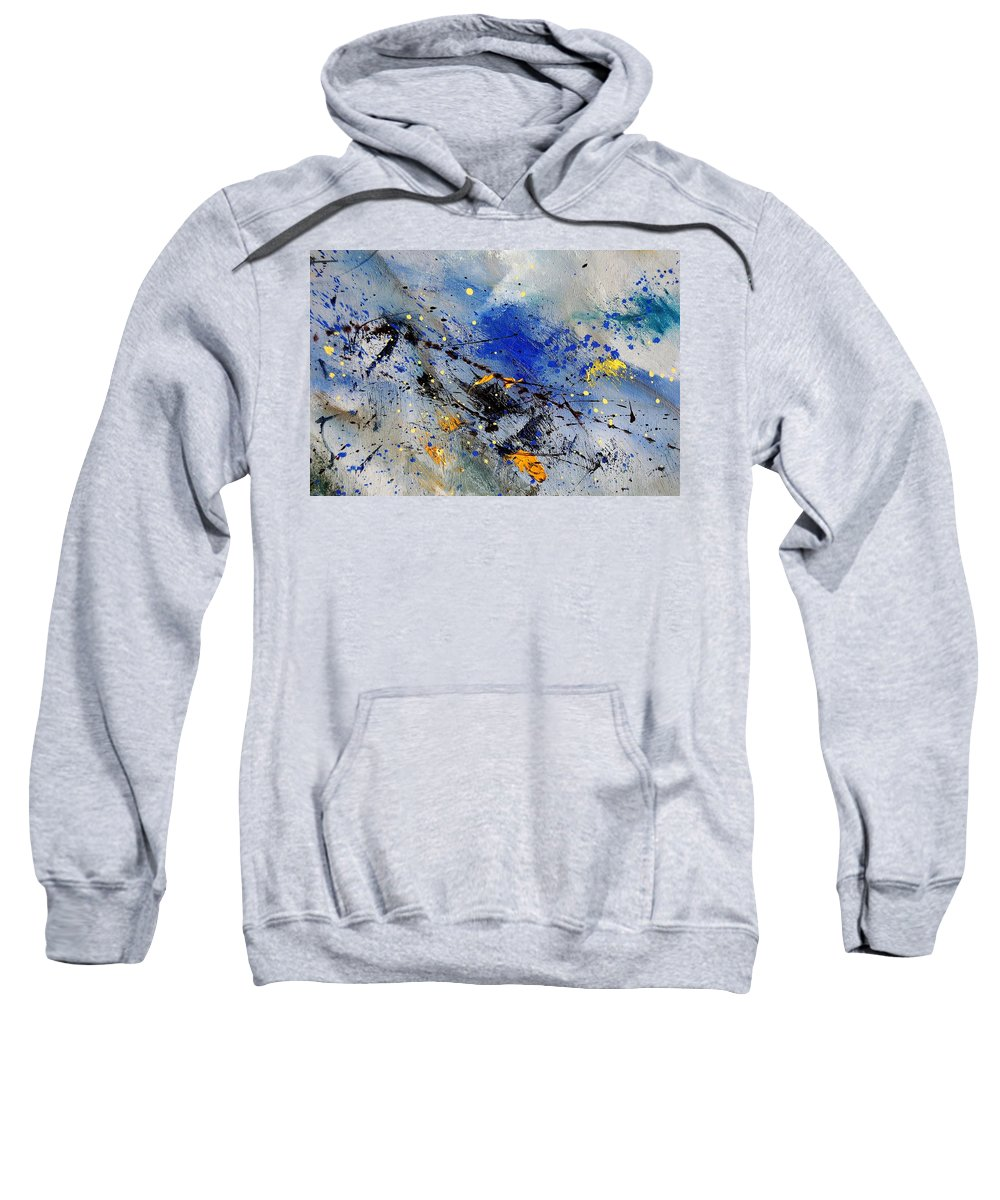 Abstract Sweatshirt featuring the painting Abstract 969090 by Pol Ledent