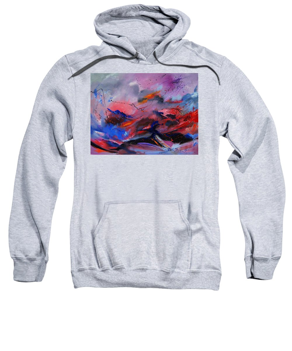 Abstract Sweatshirt featuring the painting Abstract 971260 by Pol Ledent