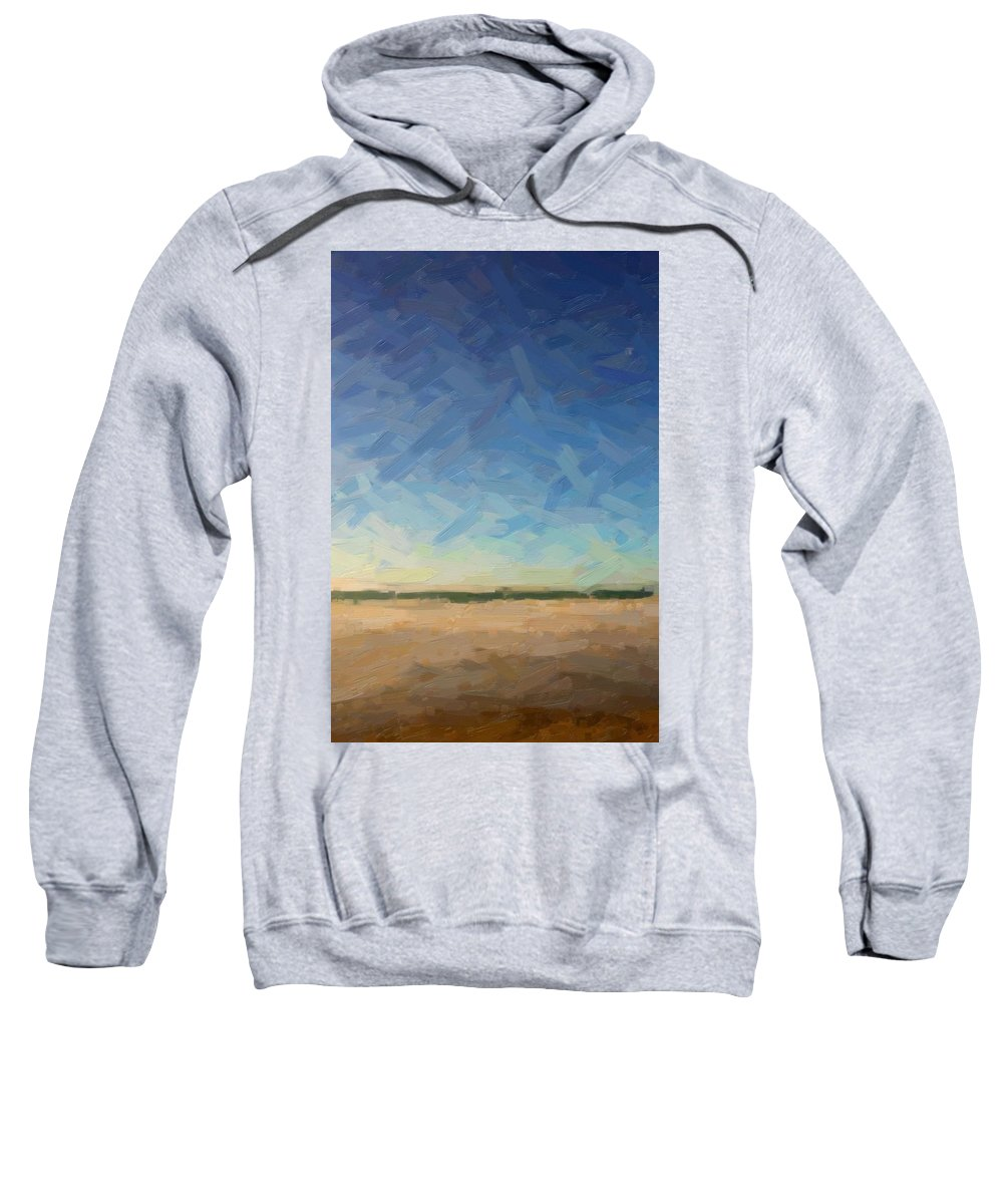 Art Sweatshirt featuring the painting Abstract Art Beach, Ca 2017, By Adam Asar by Adam Asar